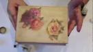 Decoupage krok po kroku - pudełko z bawełnianą koronką