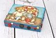Decoupage krok po kroku - pudełko z guziczkami dla chłopca