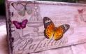 Decoupage tutorial- skrzynka w motylki