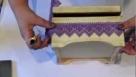 Decoupage krok po kroku - pudełko z farbowaną koronką II