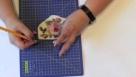 Decoupage krok po kroku  - wycinanie desenia z serwetki