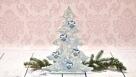 Decoupage krok po kroku - choinka z pastą strukturalną i śniegową