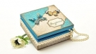 Pudełko z motylkami  sospeso i papierem do scrapbookingu