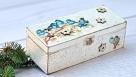 Decoupage  pudełko z ptaszkami