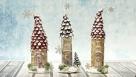 Decoupage - zimowe domki z butelek