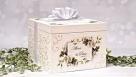 Decoupage - ślubne pudełko na koperty