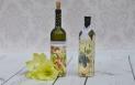 Decoupage krok po kroku - butelka na wino - spękania jednoskładnikowe
